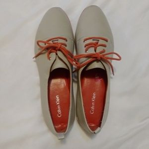 Calvin Klein Shoes - Women's Loafers, Grey with Orange detail